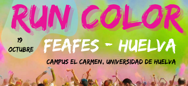Carrera «RUN COLOR». FEAFES-Huelva da color a su propuesta deportiva